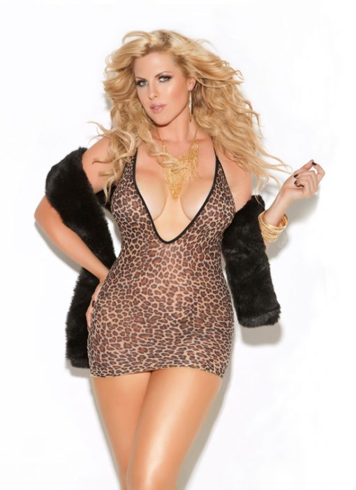 Vivace Leopard Mini Dress - Black Queen Size