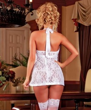 White Lace Baby Doll & G-String